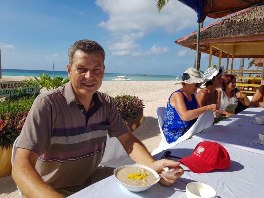 To już ostatnia fotka ze śniadania, od jutra przechodzę na własne odżywianie, głównie papaja i kokosy