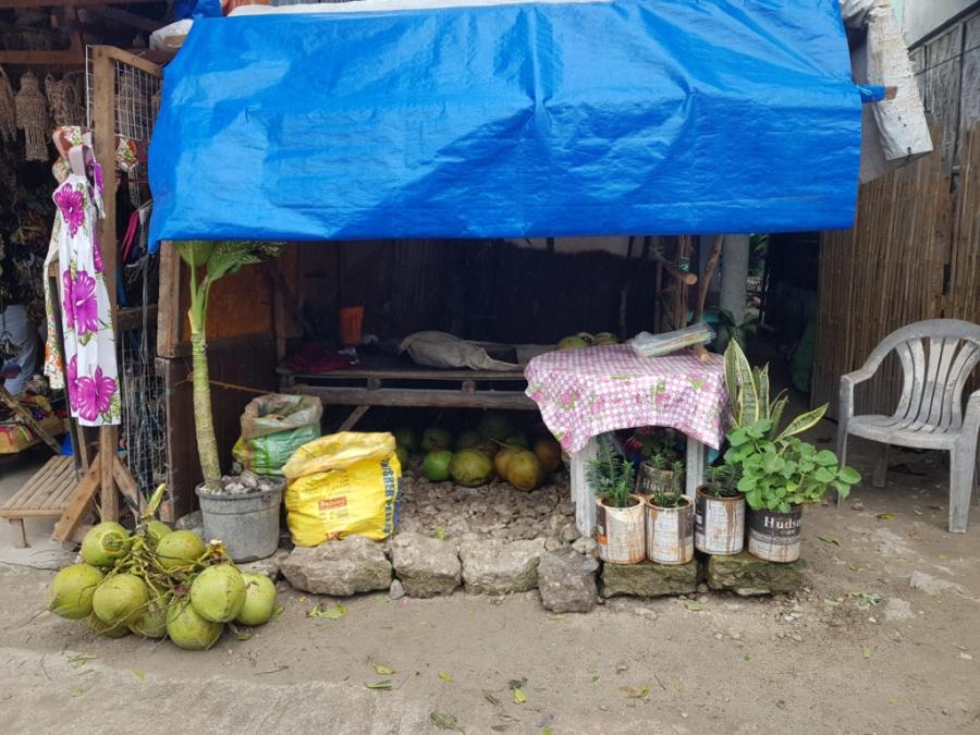 Stragan Arturo z kokosami